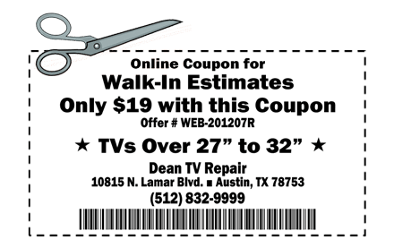 Online Coupon for $19 Walk-In Estimate