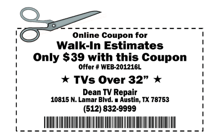 Online Coupon for $29 Walk-In Service